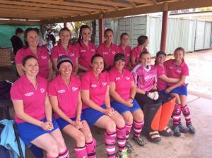 Division 2 Ladies Pink Round prior to getting soaked