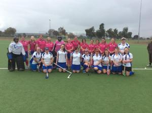 The two Div 3 Ladies teams, ready to play